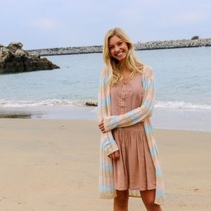 Sweaters - pastel striped cardigan
